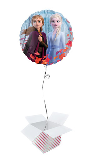 Disney Frozen 2 Round Foil Helium Balloon - Inflated Balloon in a Box Product Image