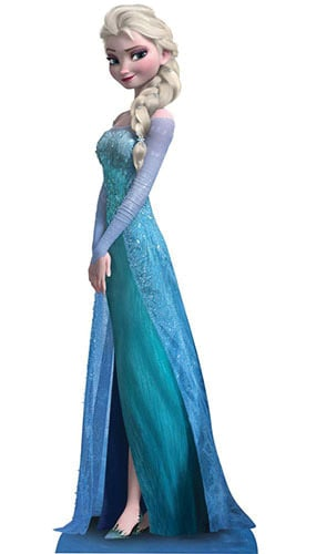 Disney Frozen Elsa Lifesize Cardboard Cutout - 160cm Product Gallery Image