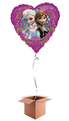 Disney Frozen Heart Shape Foil Balloon - Inflated Balloon in a Box Product Image
