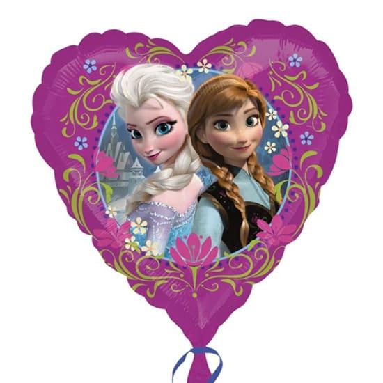 Disney Frozen Heart Shape Foil Helium Balloon 43cm / 17Inch Product Image