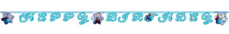 Disney Frozen Ice Skating Happy Birthday Jointed Letter Banner - 6.5 Ft / 200cm Product Image