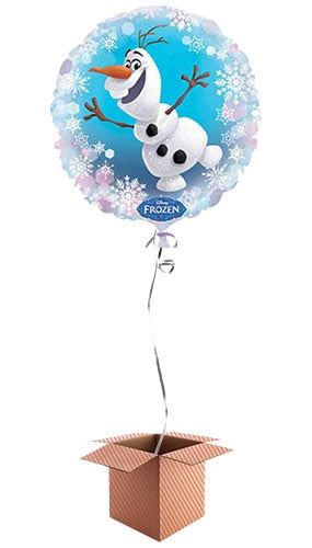 Disney Frozen Olaf Round Foil Balloon - Inflated Balloon in a Box Product Image