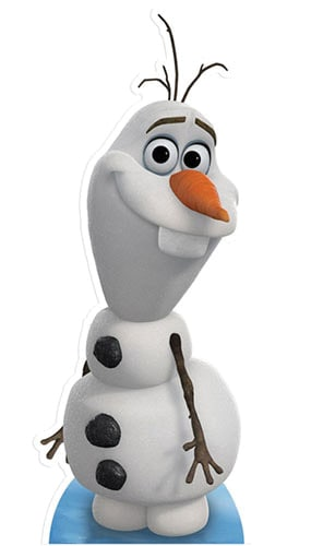 Disney Frozen Olaf Lifesize Cardboard Cutout - 89cm Product Gallery Image
