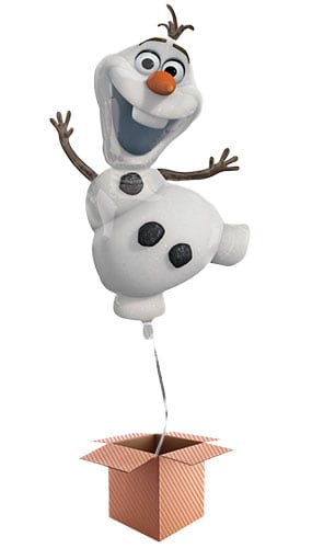 Disney Frozen Olaf Helium Foil Giant Balloon - Inflated Balloon in a Box Product Image