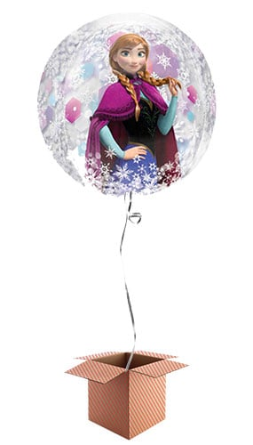 Disney Frozen Orbz Clear Balloon - Inflated Balloon in a Box Product Image