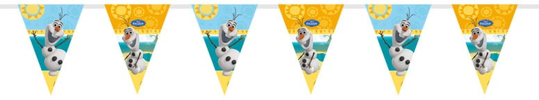 Disney Frozen Summer Olaf Plastic Flag Bunting - 1.7m Product Image