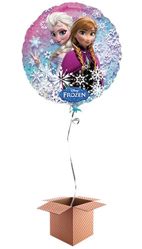 Disney Frozen Round Foil Balloon - Inflated Balloon in a Box Product Image