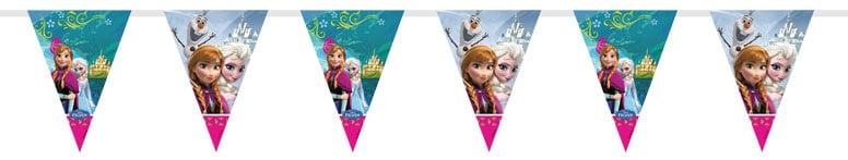Disney Frozen Triangle Plastic Flag Bunting - 2m Product Image