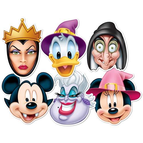 Disney Halloween Cardboard Face Masks - Pack of 6 Product Image