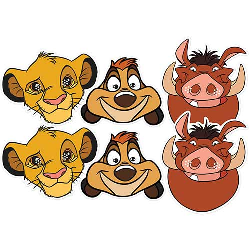 Disney Lion King Cardboard Face Masks - Pack of 6 Product Image