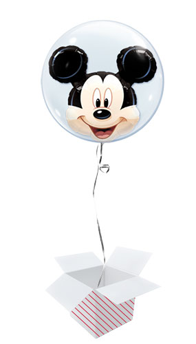 Disney Mickey Mouse Double Bubble Helium Qualatex Balloon - Inflated Balloon in a Box Product Image