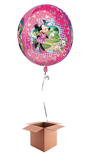Disney Minnie Mouse Clear Orbz Balloon - Inflated Balloon in a Box Product Image