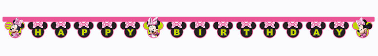 Disney Minnie Mouse Happy Birthday Cardboard Jointed Letter Banner 200cm Product Image