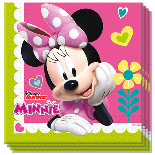 Disney Minnie Mouse Luncheon Napkins 33cm 2Ply - Pack of 20