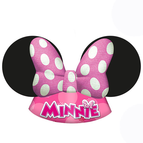 Disney Minnie Mouse Party Die Cut Hats - Pack of 6