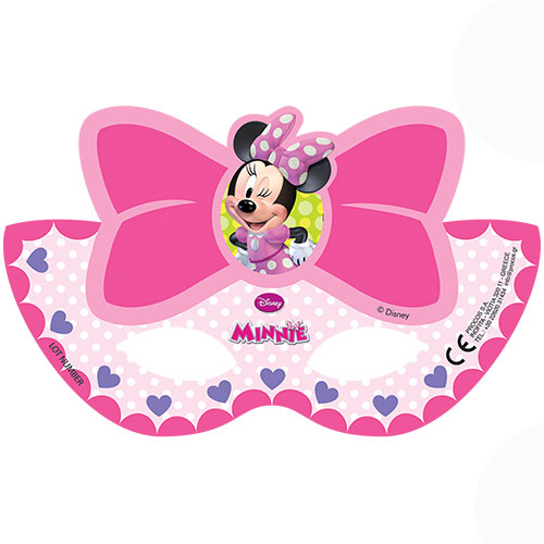 Disney Minnie Mouse Party Face Masks - Pack of 6