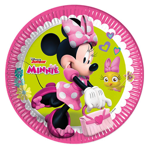 Disney Minnie Mouse Round Paper Plates 23cm - Pack of 8