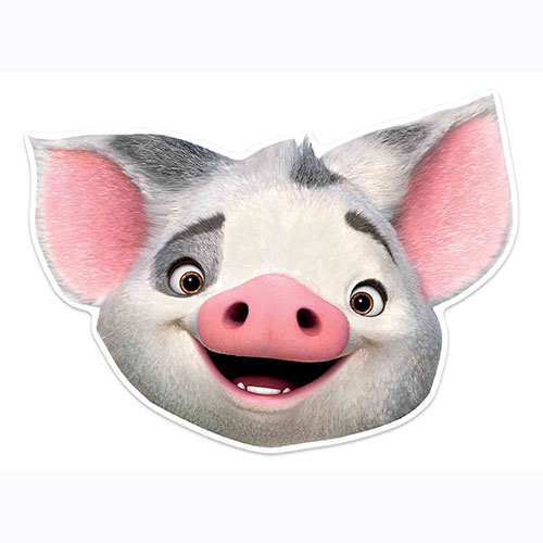 Disney Moana Pua Pig Cardboard Face Mask for Children