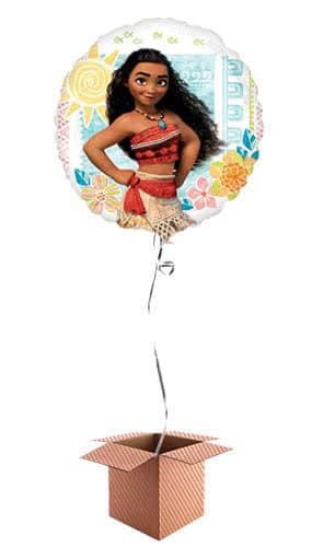 Disney Moana Round Foil Helium Balloon - Inflated Balloon in a Box Product Image