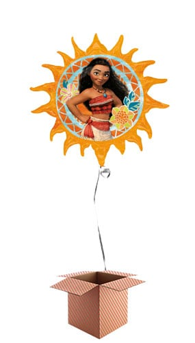 Disney Moana Helium Foil Giant Balloon - Inflated Balloon in a Box Product Image