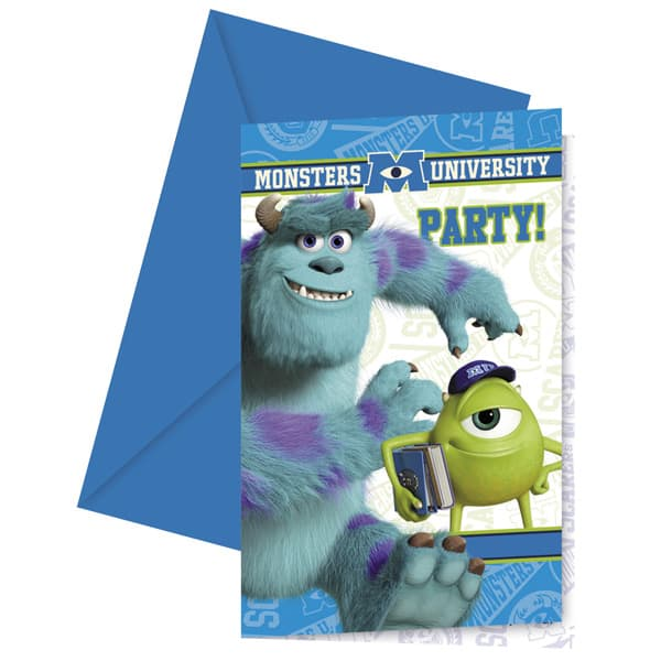 Disney Monsters University Invitations with Envelopes - Pack of 6 Product Image