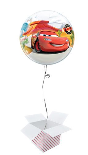 Disney Pixar Cars Lightning McQueen And Mater Bubble Helium Qualatex Balloon - Inflated Balloon in a Box Product Image