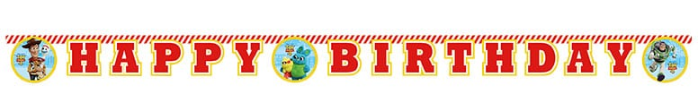 Disney Pixar Toy Story 4 Happy Birthday Cardboard Jointed Letter Banner 200cm Product Image