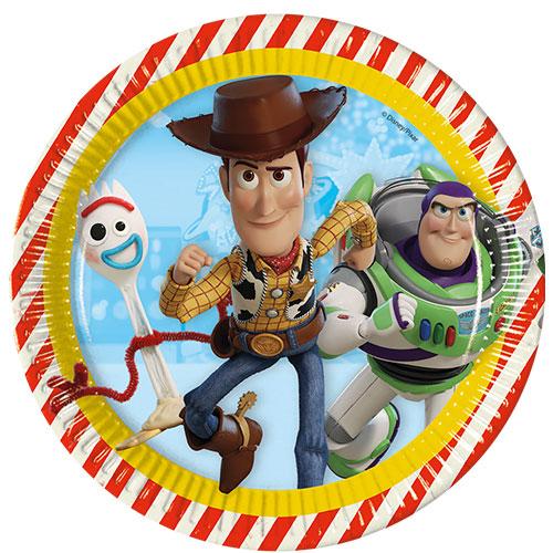 Disney Pixar Toy Story 4 Round Paper Plates 23cm - Pack of 8