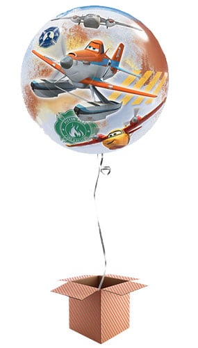 Disney Planes Fire & Rescue Bubble Helium Qualatex Balloon - Inflated Balloon in a Box Product Image