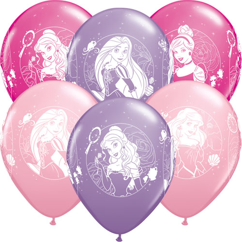 Disney Princess Assorted Latex Balloons 30cm / 12 in - Pack of 6