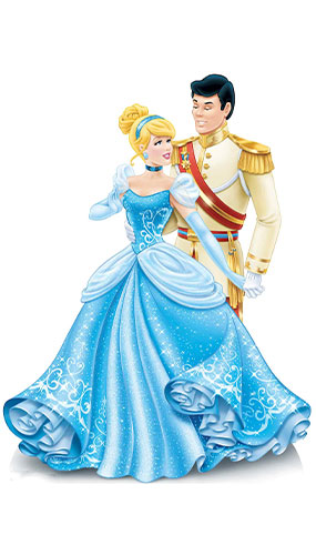 Disney Princess Cinderella and Prince Charming Star Mini Cardboard Cutout 79cm