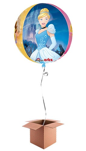 Disney Princess Clear Orbz Balloon - Inflated Balloon in a Box Product Image