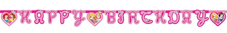 Disney Princess Happy Birthday Jointed Letter Banner 175cm