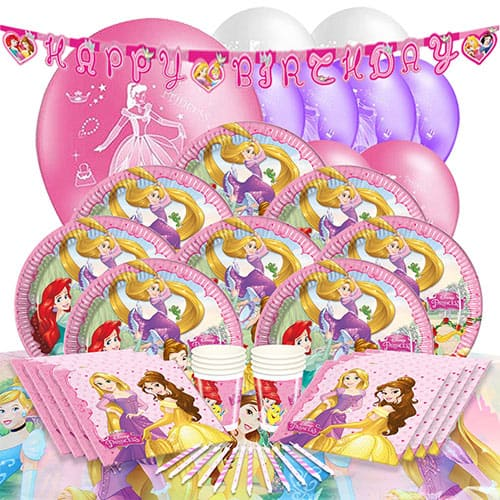 Disney Princess 8 Person Deluxe Party Pack