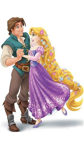 Disney Princess Rapunzel and Prince Flynn Rider Star Mini Cardboard Cutout 83cm