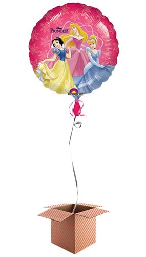 Disney Princess Round Foil Balloon - Inflated Balloon in a Box Product Image