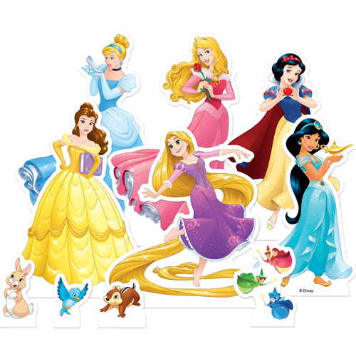 Disney Princess Table Top Cutout Decorations - Pack of 10