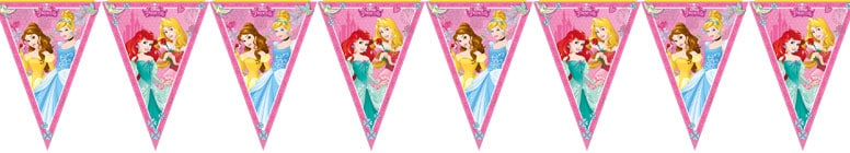 Disney Princess Plastic Flag Bunting 230cm Product Image