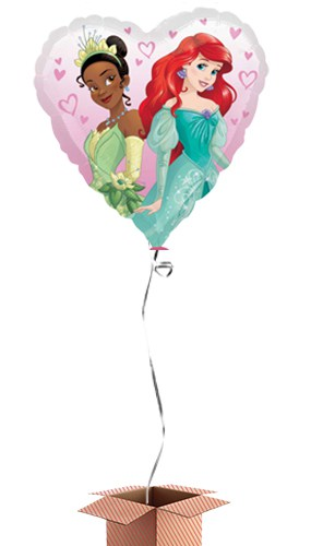 Disney Princesses Heart Shape Foil Balloon - Inflated Balloon in a Box Product Image