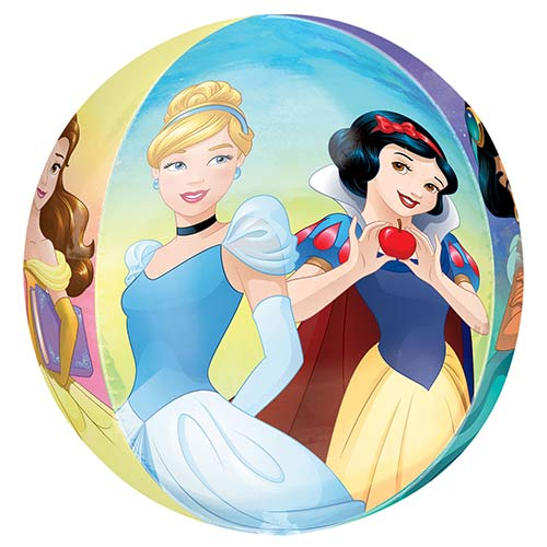 Disney Princesses Orbz Foil Helium Balloon 38cm / 15 in Product Gallery Image