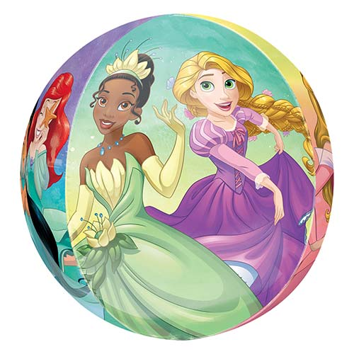 Disney Princesses Orbz Foil Helium Balloon 38cm / 15 in
