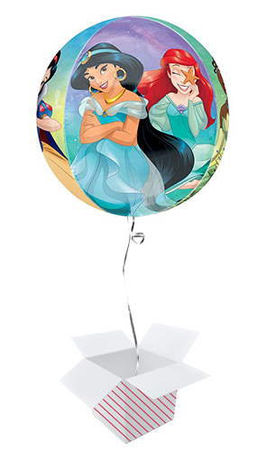 Disney Princesses Orbz Foil Helium Balloon - Inflated Balloon in a Box Product Gallery Image