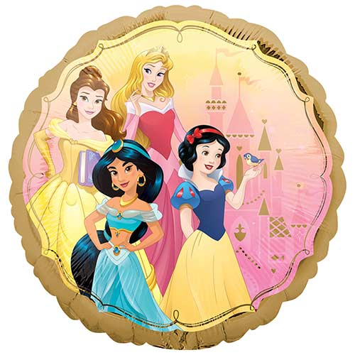 Disney Princesses Two-Sided Round Foil Helium Balloon 43cm / 17 in