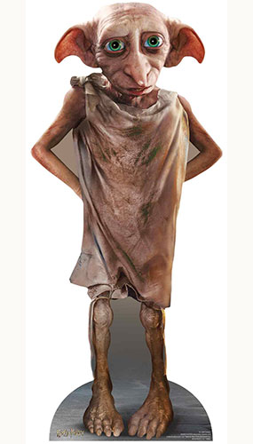 Dobby The House Elf Harry Potter Character Star Mini Cardboard Cutout 98cm Product Gallery Image