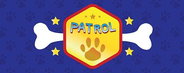 Dog Patrol Bone Design Medium Personalised Banner - 6ft x 2.25ft