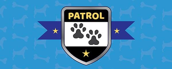 Dog Patrol Paws Design Medium Personalised Banner - 6ft x 2.25ft