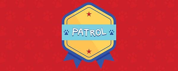 Dog Patrol Rosette Design Medium Personalised Banner - 6ft x 2.25ft