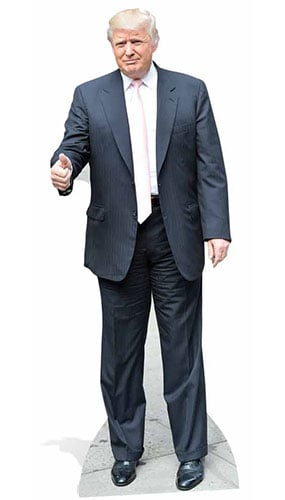 Donald Trump Pink Tie Lifesize Cardboard Cutout 188cm Product Image