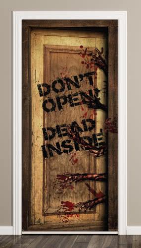 Dead Inside Halloween Door Cover PVC Party Sign Decoration 66cm x 152cm Product Image