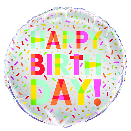 Donut Party Birthday Round Foil Helium Balloon 46cm / 18 in